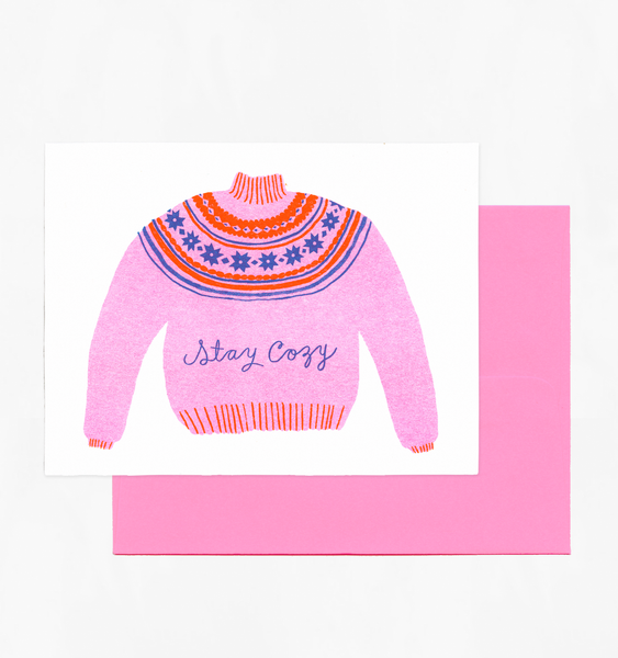 STAY COZY CARD | SINGLE CARD + ENVELOPE