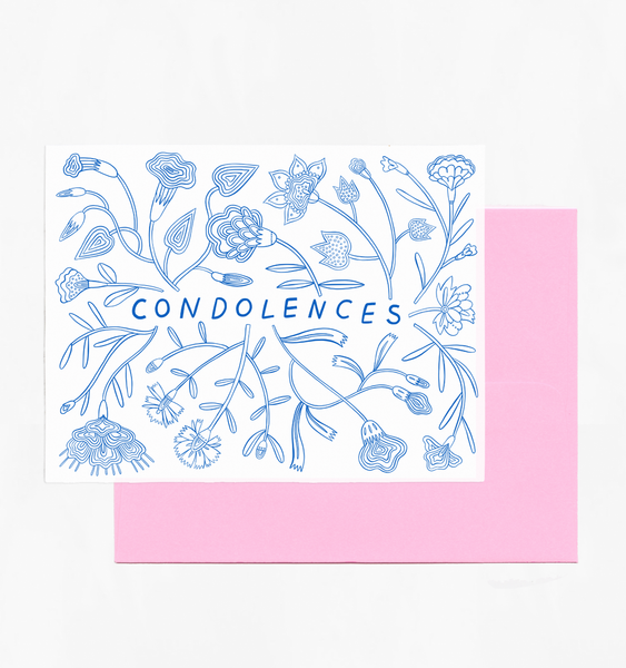 FLORAL CONDOLENCE | SINGLE CARD + ENVELOPE
