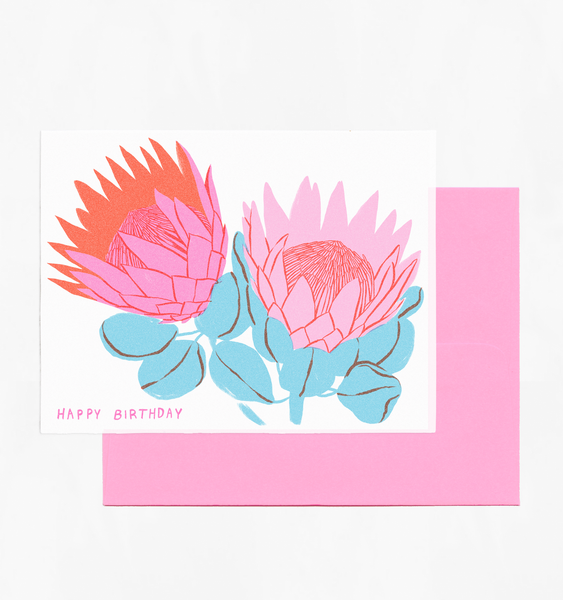 PROTEA BIRTHDAY | SINGLE CARD + ENVELOPE