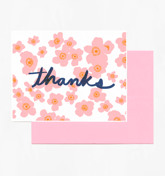 FLORAL THANKS | SINGLE CARD + ENVELOPE