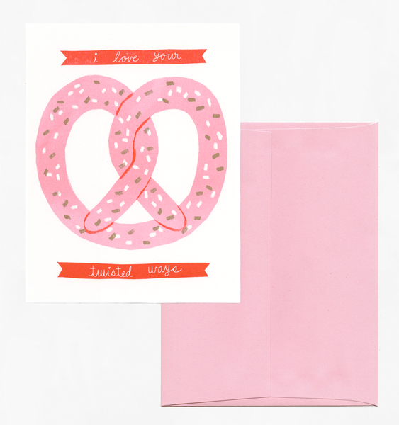 PRETZEL LOVE | SINGLE CARD + ENVELOPE