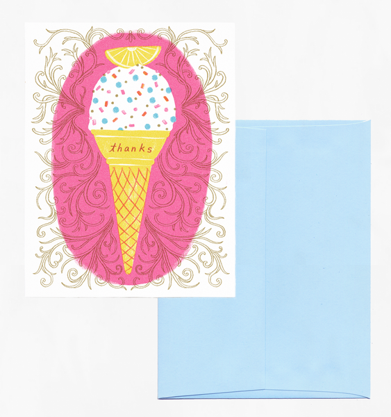 ICE CREAM THANKS | SINGLE CARD + ENVELOPE