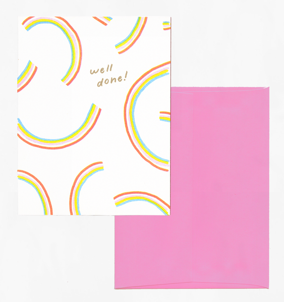 RAINBOW CONGRATS | SINGLE CARD + ENVELOPE