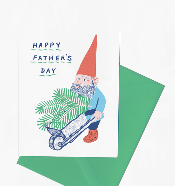 FATHER'S DAY GNOME | SINGLE CARD + ENVELOPE