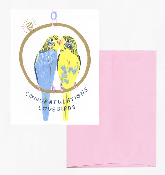 LOVEBIRDS | SINGLE CARD + ENVELOPE