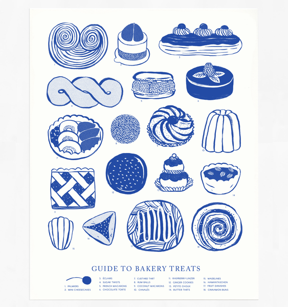 BAKERY TREATS POSTER | BLUE