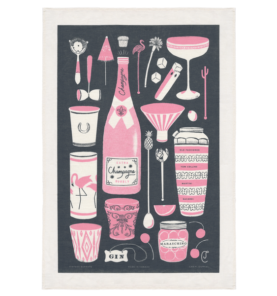 VINTAGE BARWARE TEA TOWEL