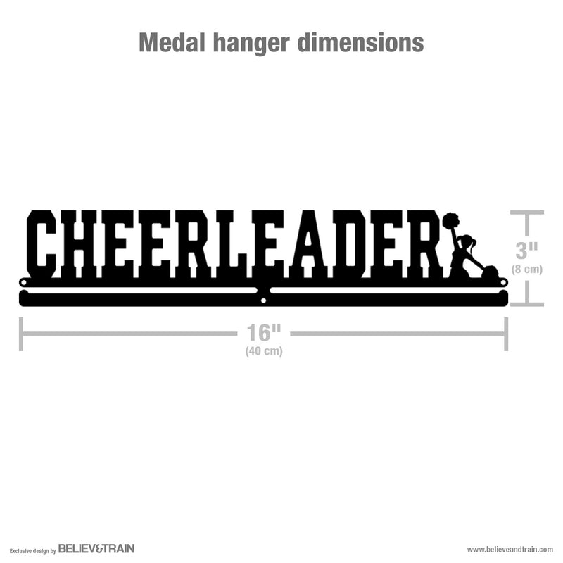 Cheerleader - Motivational Cheerleading Medal Hanger
