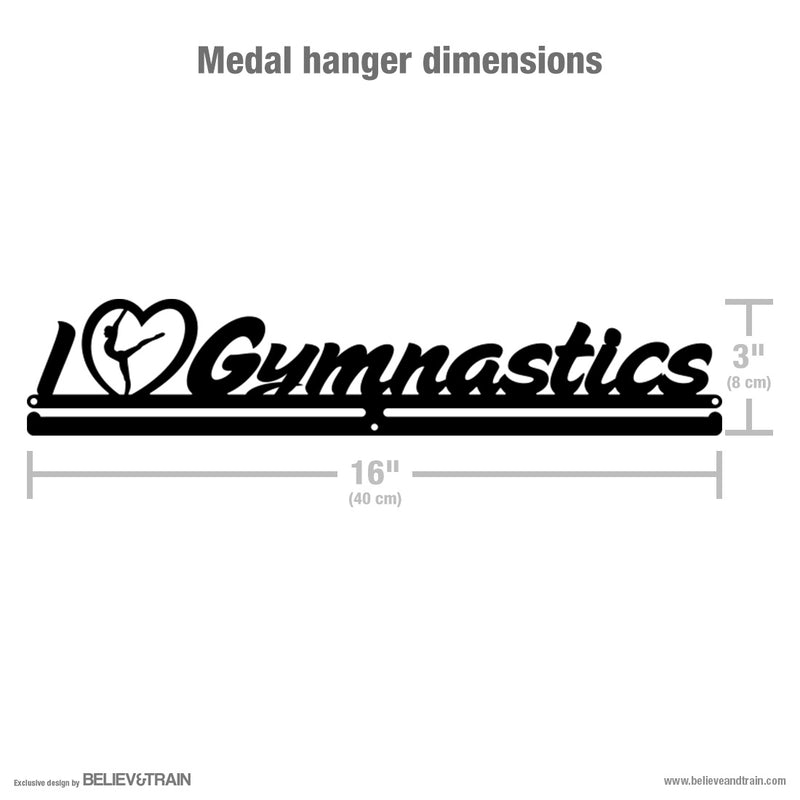 I Love Gymnastics - Motivational Gymnastics Medal Hanger