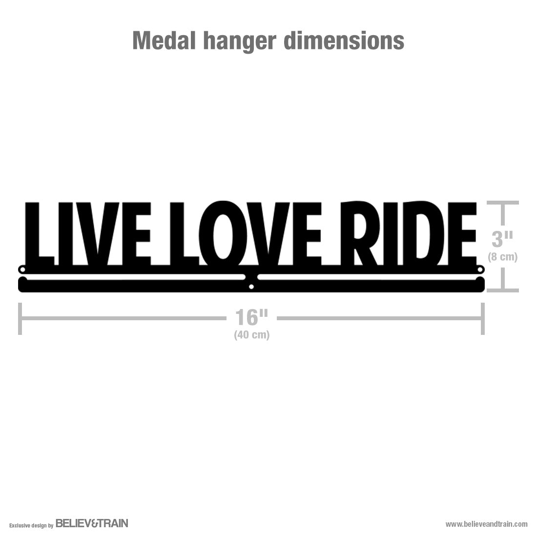 Live Love Ride- Cycling Medal Hanger