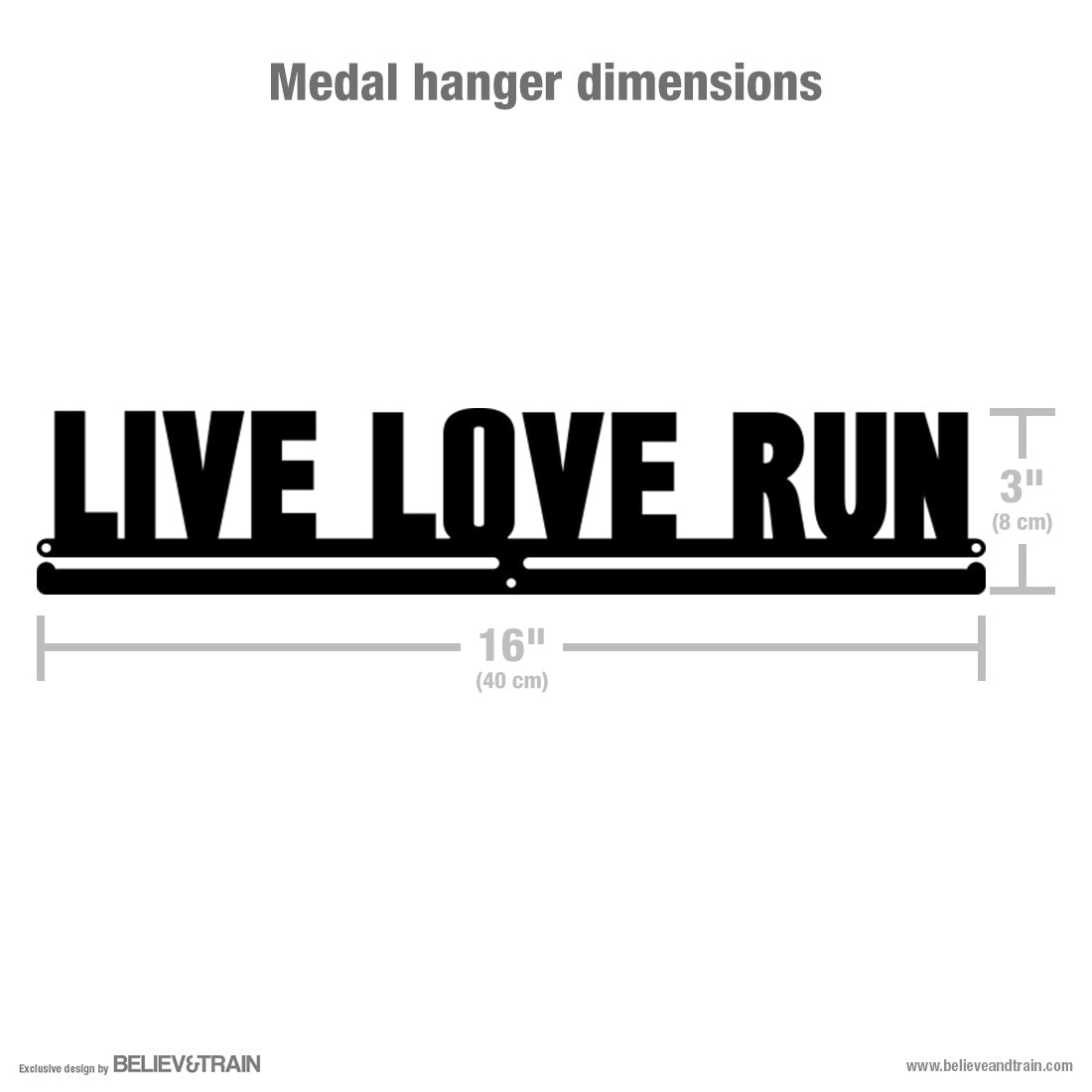 Live Love Run - Running Medal Hanger