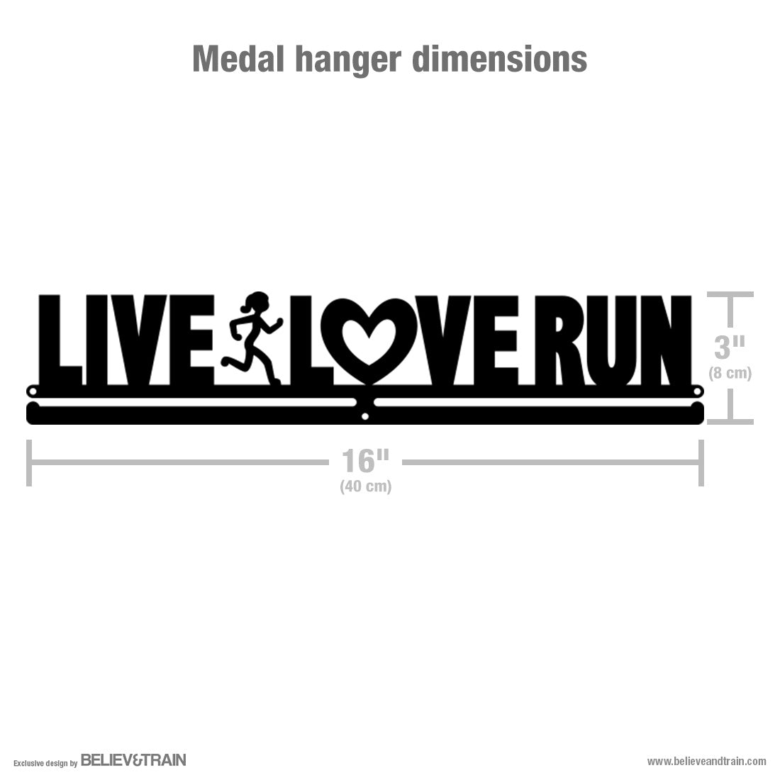 Live Love Run Women - Running Medal Hanger