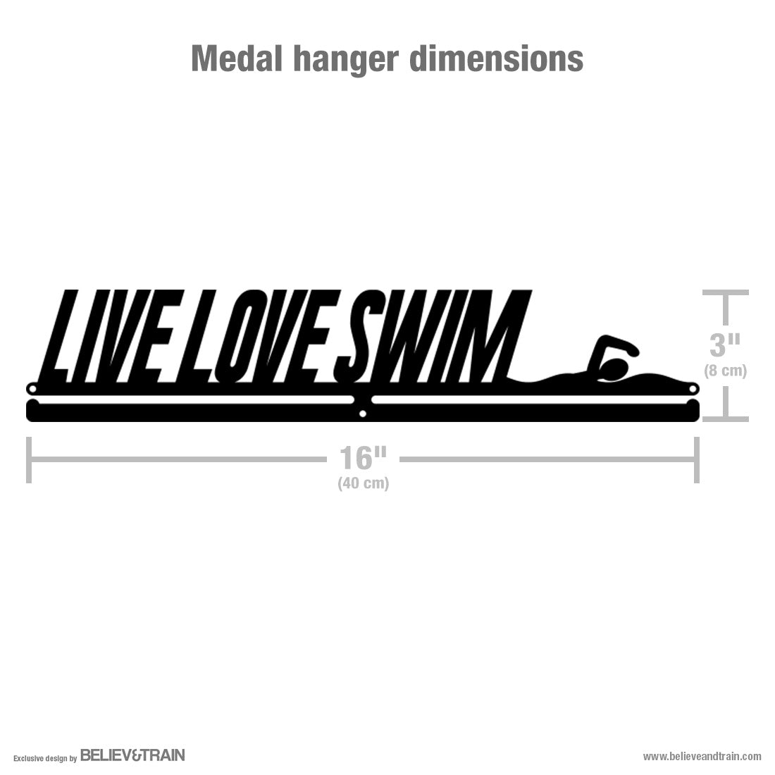 Live Love Swim - Swimming Medal Hanger