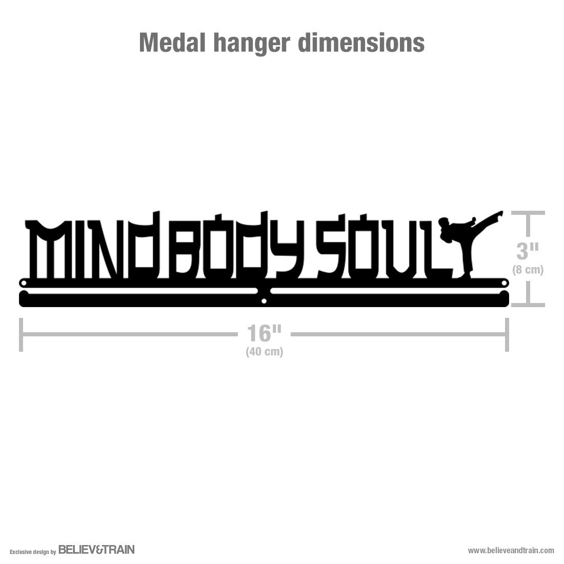 Mind Body Soul - Martial Arts Medal Hanger