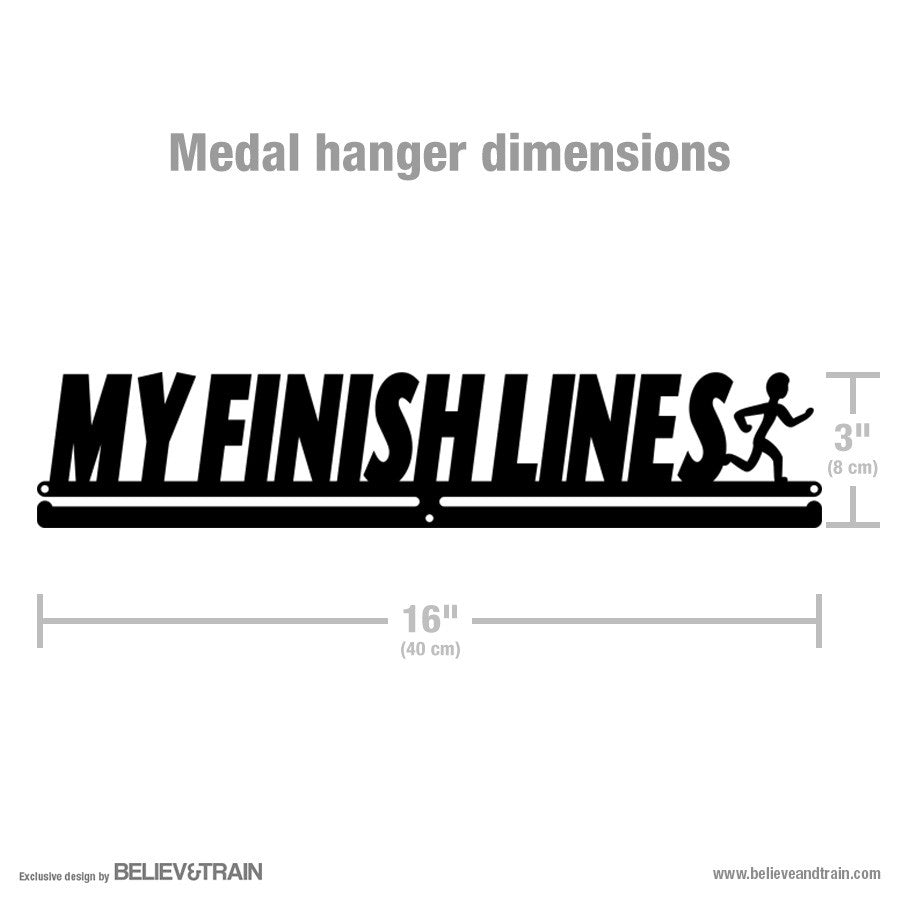 My Finish Lines Men - Running Medal Hanger