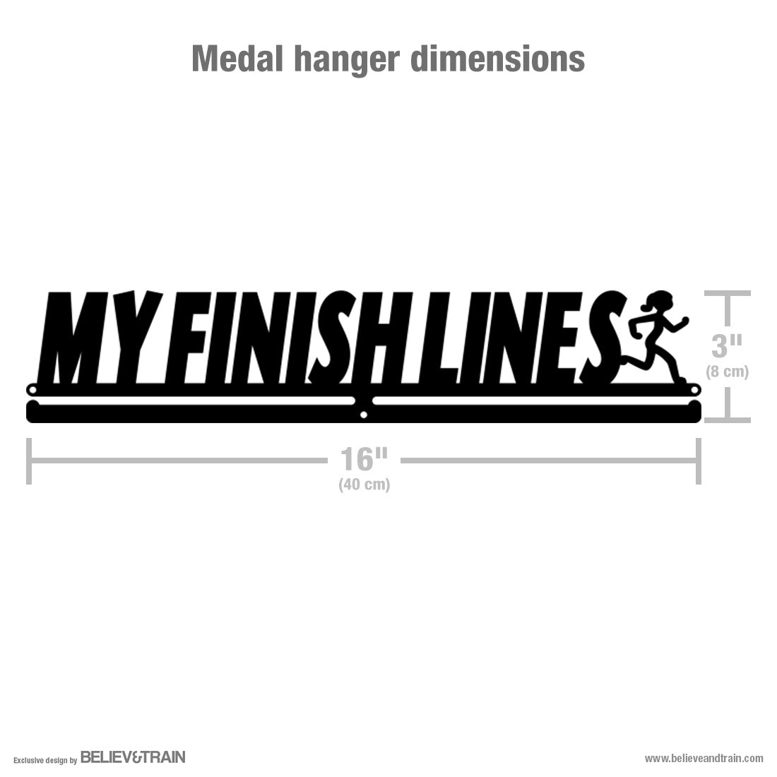 My Finish Lines Women - Motivational Running Medal Hanger