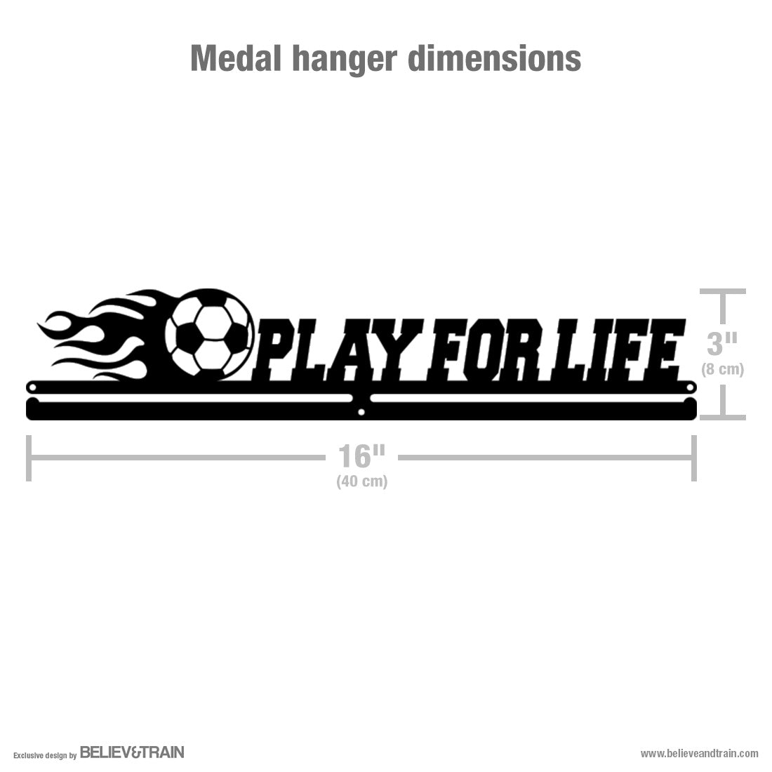 Play for Life - Soccer Medal Hanger