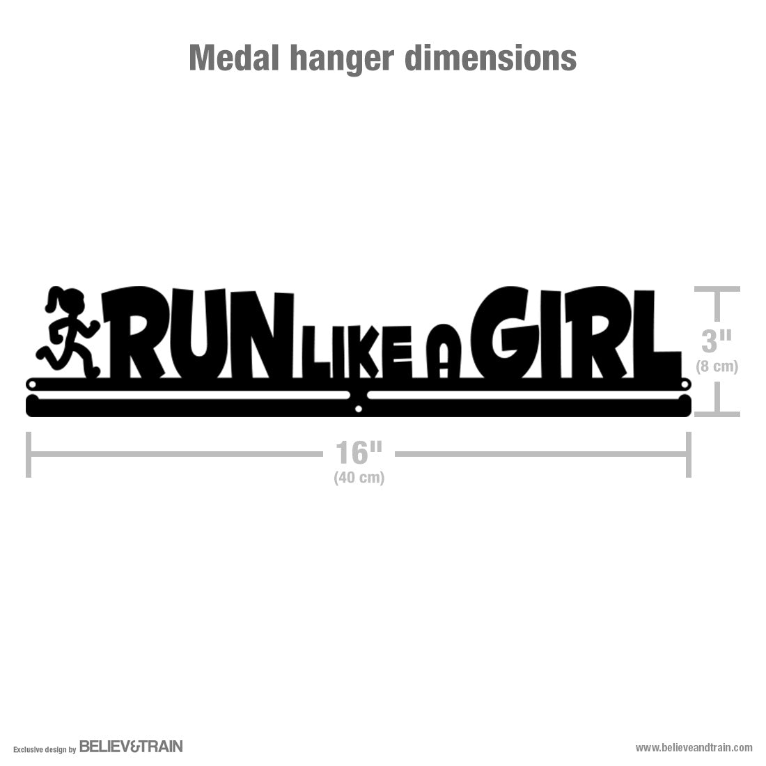 Run Like a Girl - Running Medal Hanger