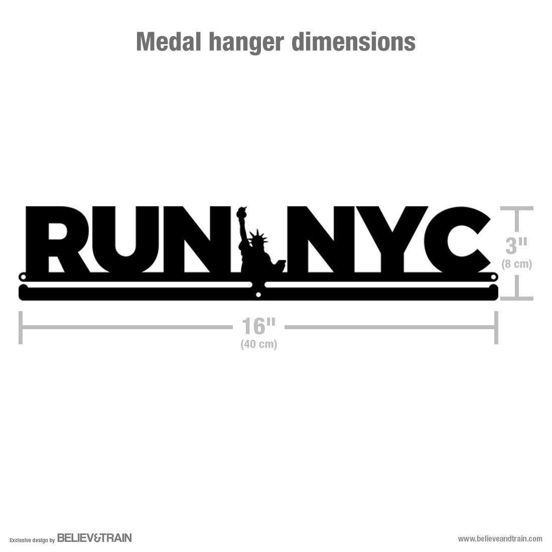 Run NYC - Running Medal Hanger