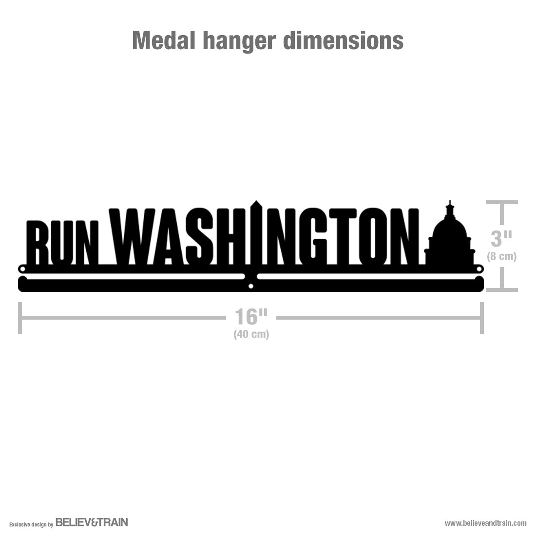 Run Washington - Running Medal Hanger