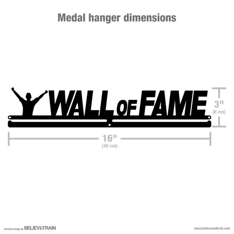 Wall of Fame - Motivational Medal Hanger