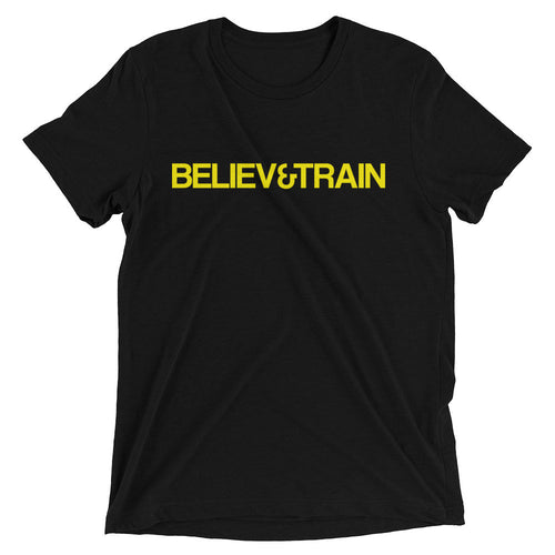 Believe&Train Yellow Logo t-shirt