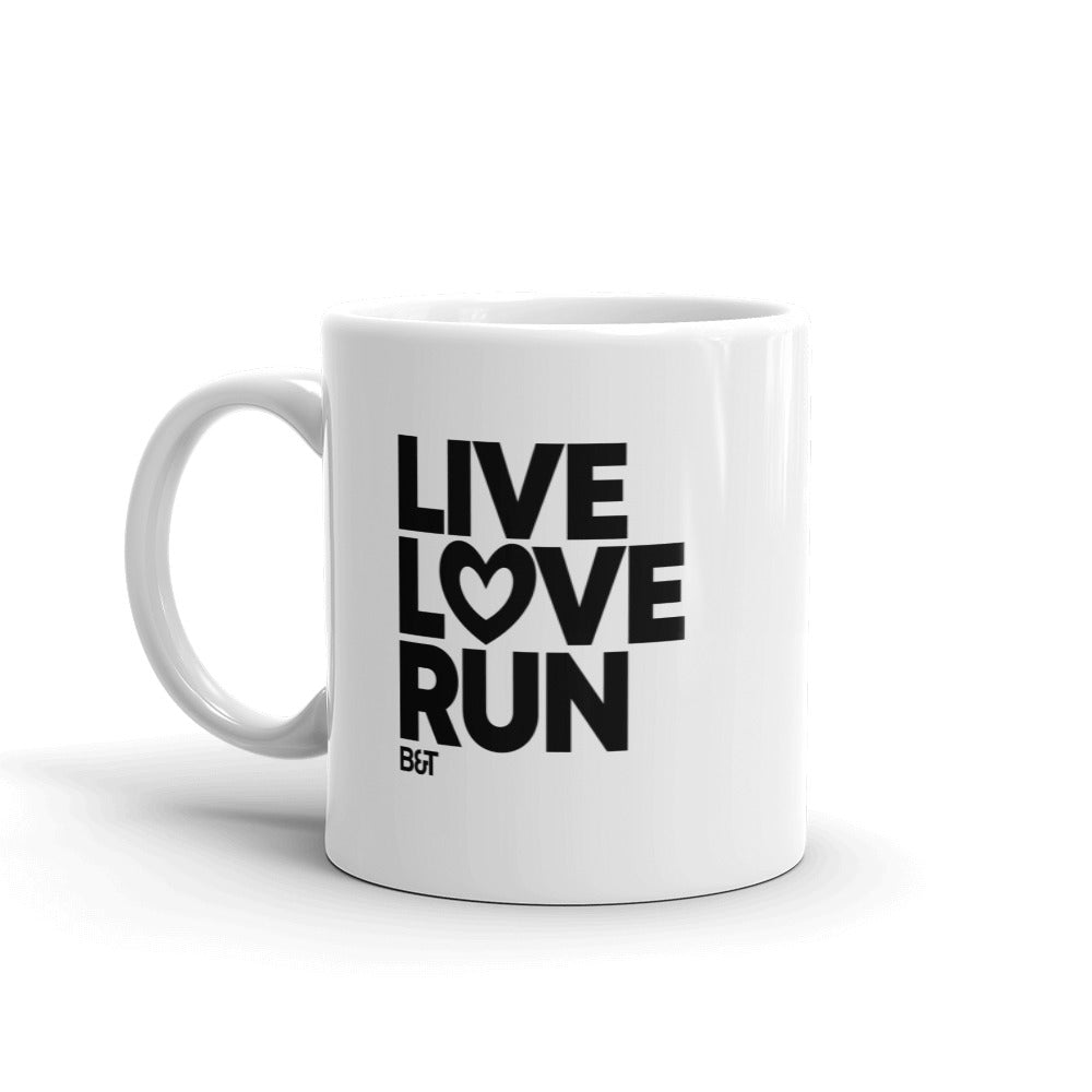 Live Love Run Heart Big Letters - Mug