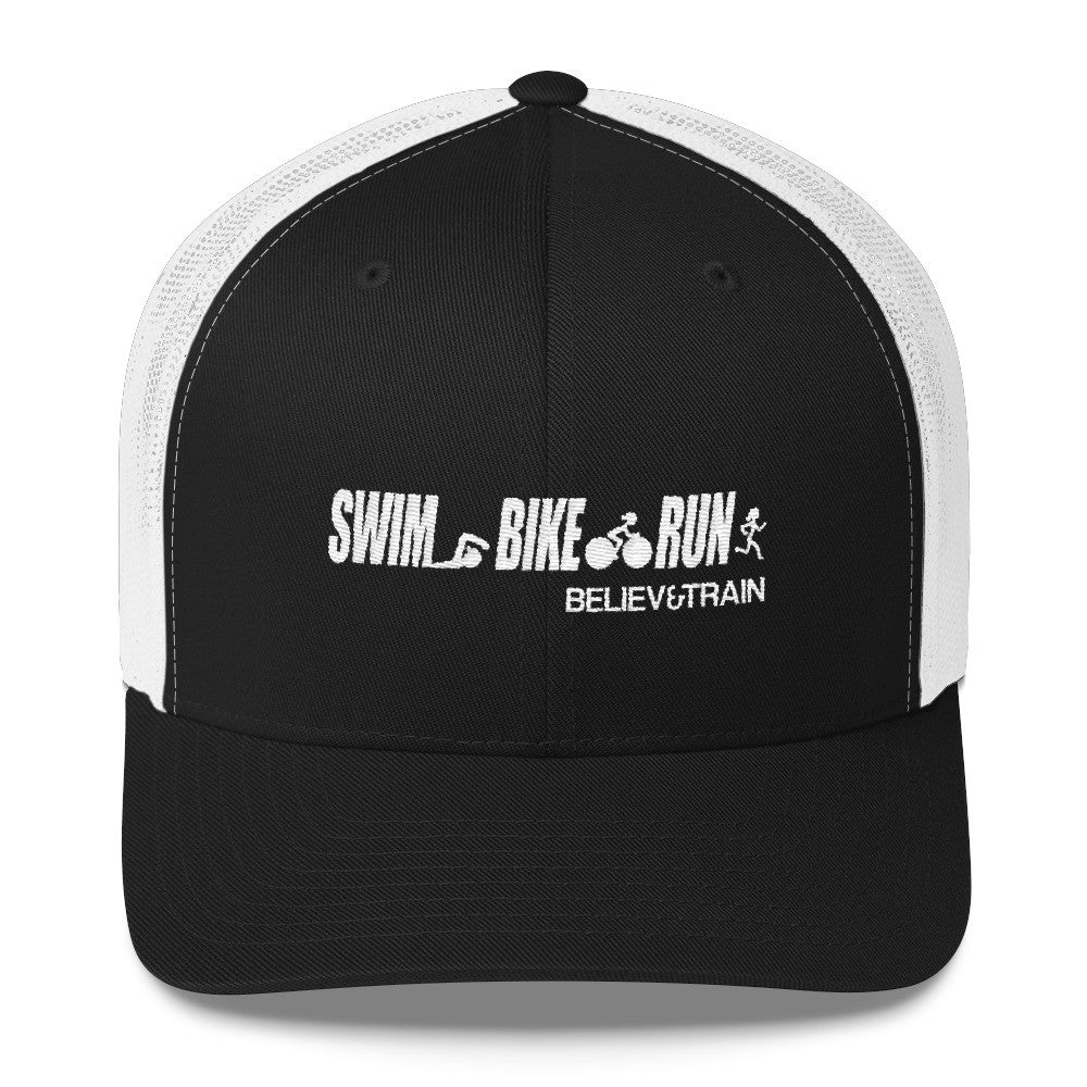Swim Bike Run Trucker Cap (Women)