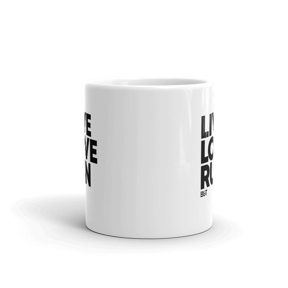 Live Love Run Big Letters - Mug