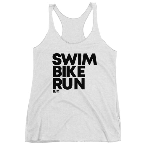 Swim Bike Run - Women's Racerback Tank