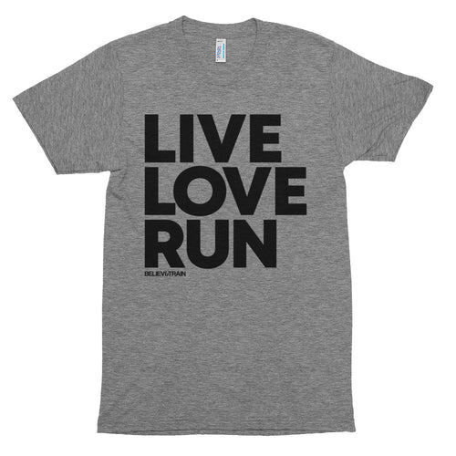 Live Love Run Big Letters - t-shirt