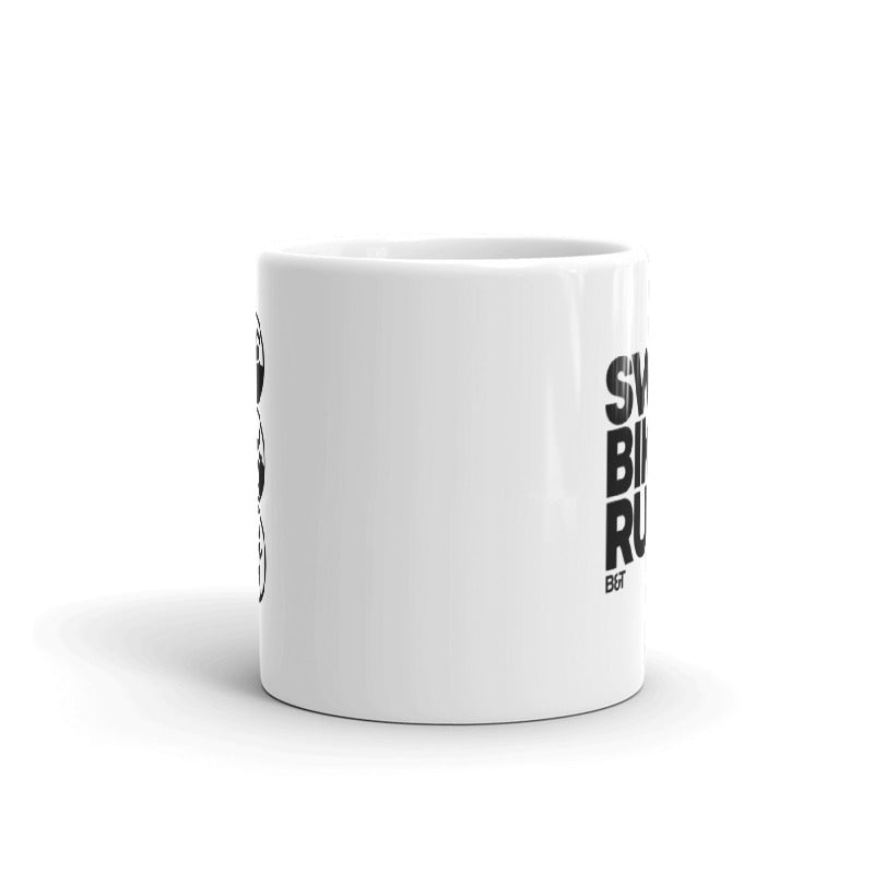 Swim Bike Run Big Letters - Mug