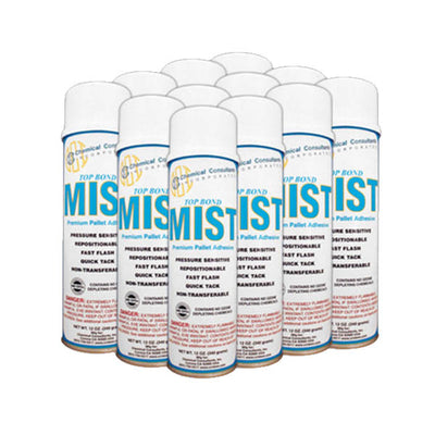 CASE OF 12 - TOP BOND MIST PREMIUM AEROSOL ADHESIVE