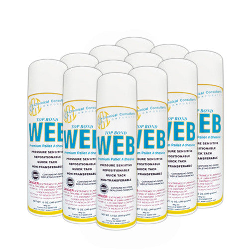 TOP BOND WEB PREMIUM AEROSOL ADHESIVE - CASE OF 12