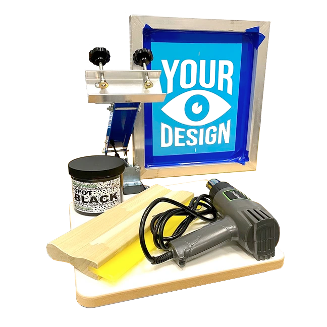 DIY Screen Printing Kit w/ Pre-Burned Screen