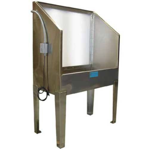 CCI E44SL Stainless Steel Backlit Washout Booth