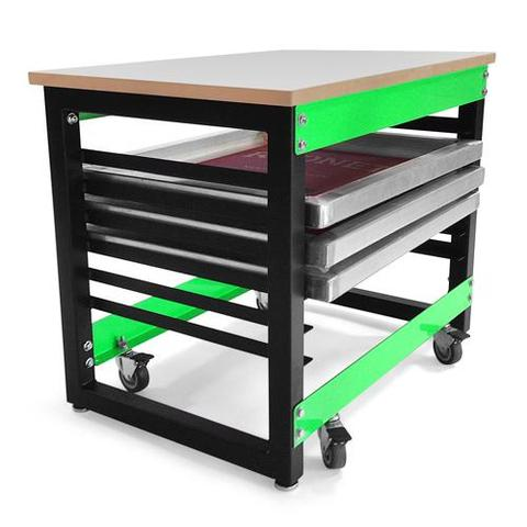 RILEY HOPKINS 250 SCREEN PRINTING PRESS CART - 6 SCREEN CART