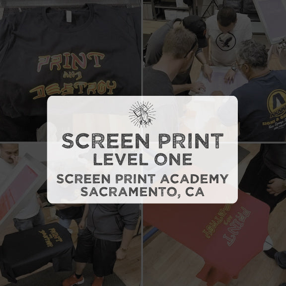Screen Printing Class - Level One