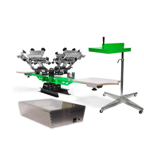SEMI-PRO MAX 6 COLOR 2 STATION SCREEN PRINTING KIT