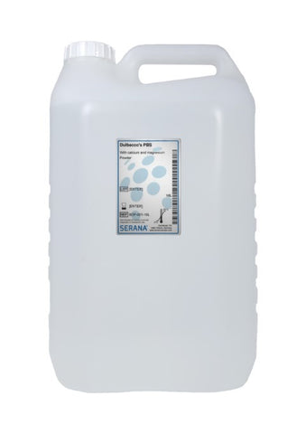 Dulbecco's PBS, 10L, Without calcium and magnesium. Sterile filtered.