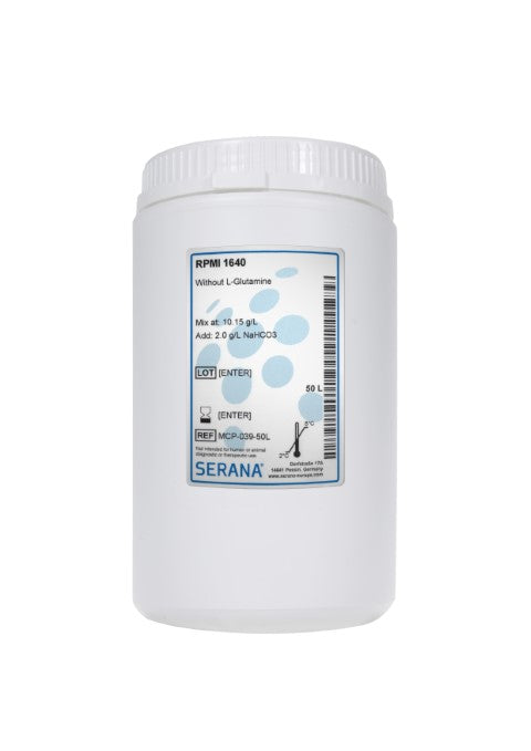 RPMI 1640, Makes 50L, Without L-Glutamine.