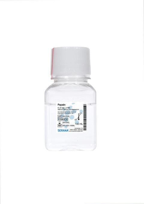 Papain Solution, 100 ml, 61.25 mg/L, in PBS w/o Ca, Mg, Sterile Filtered