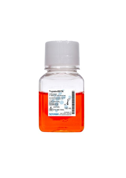 Trypsin-EDTA (0.05 %) in HBSS (1x), with phenol red, 100 ml