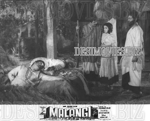 Malangi (1965) Lollywood Lobby Card Still 19