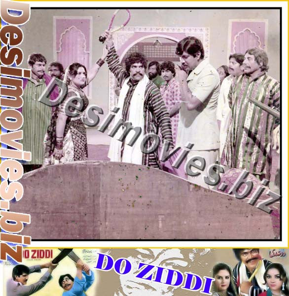 Do Ziddi (1984)  Lollywood Lobby Card Still 1