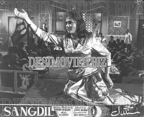 Sangdil (1968)  Lollywood Lobby Card Still 3