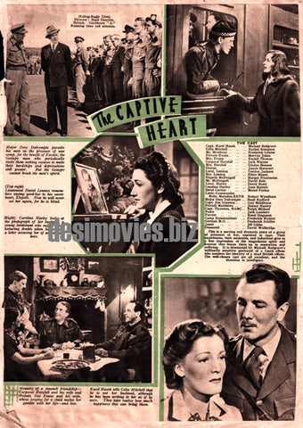 The Captive Heart (1946) Press Adverts