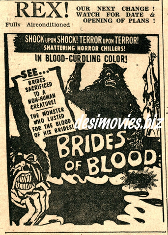 Brides of Blood, The (1968) Press Ad 1971