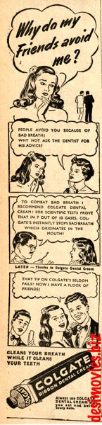 Colgate (1947) Press Advert 1947