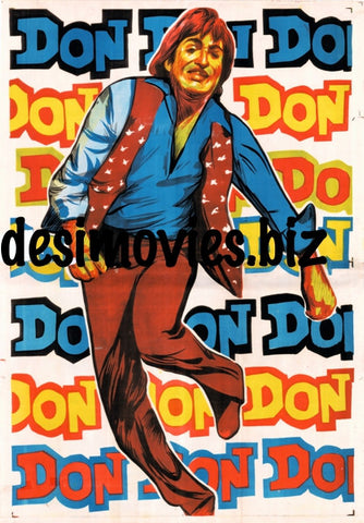 Don (1978) Double Sheet Poster (Linen Backed)